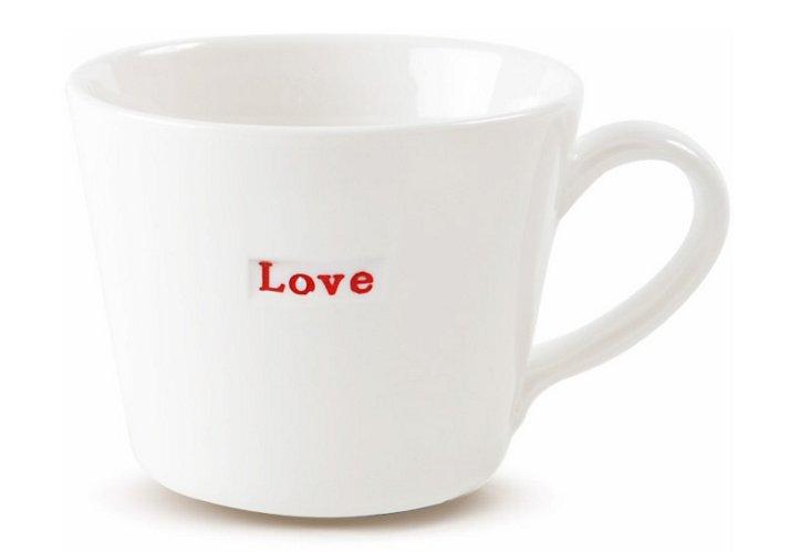 """Porcelain """"Love"""" Espresso Cup"""