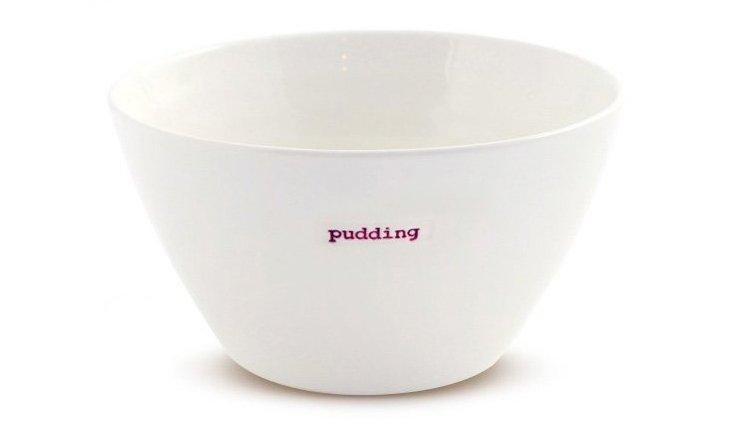 "Porcelain ""Pudding"" Bowl, Medium"