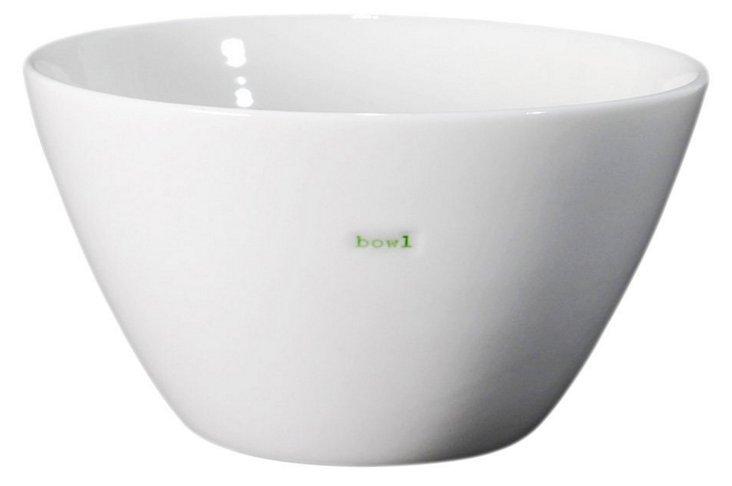 """S/2 Porcelain """"Bowl"""" Bowls, 5"""""""
