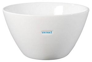 """S/2 Medium Bowls, """"Cereal"""""""
