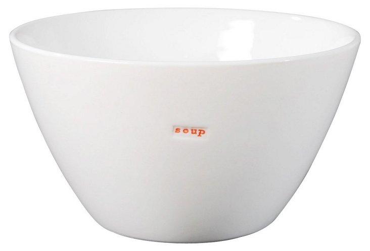 """Porcelain """"Soup"""" Bowl, Medium"""