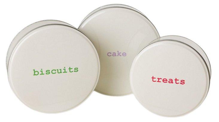 3-Pc Baked Goods Tin Set