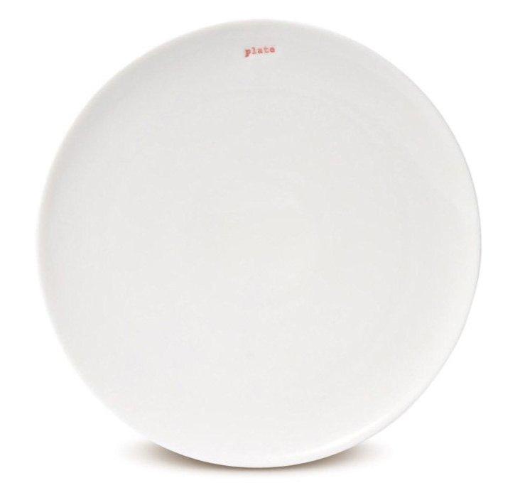 """S/2 Porcelain """"Plate"""" Dinner Plates"""