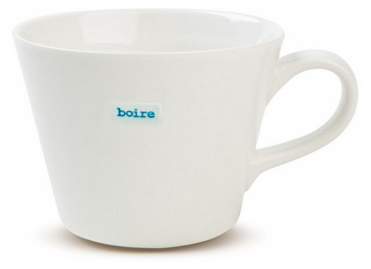 """Porcelain """"Boire"""" Bucket Mug"""