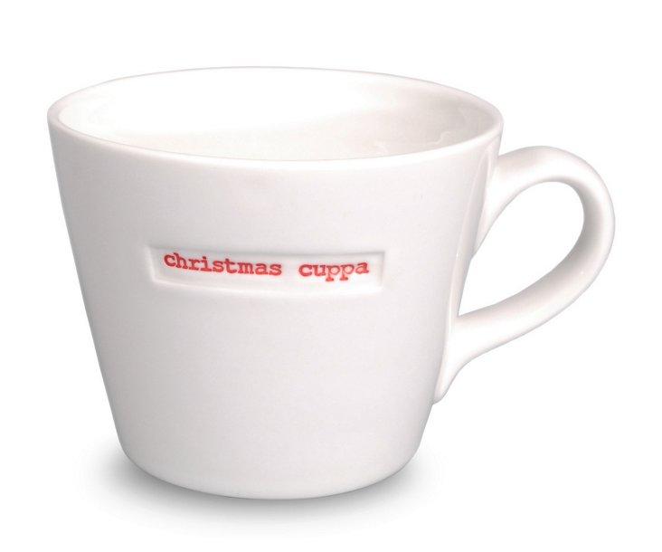 Bucket Mug, 'Christmas Cuppa'