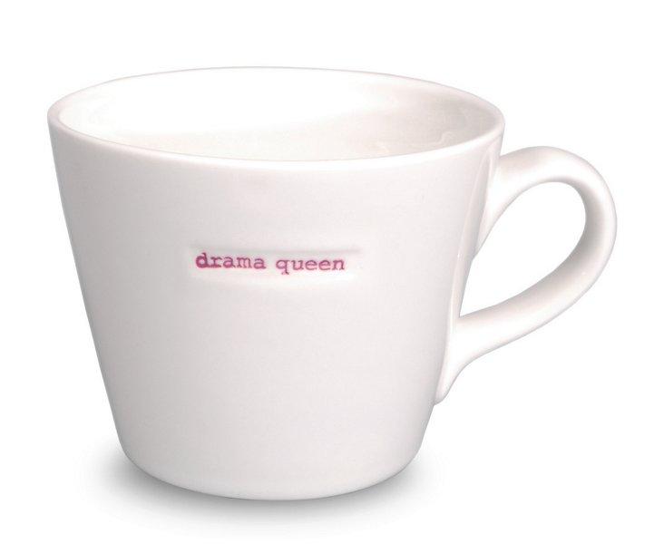 "Porcelain ""Drama Queen"" Bucket Mug"