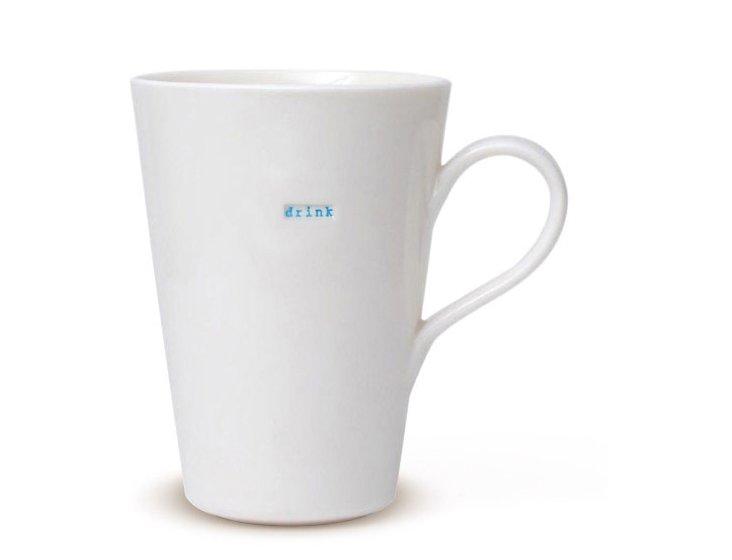 """Porcelain """"Drink"""" Latte Mug"""