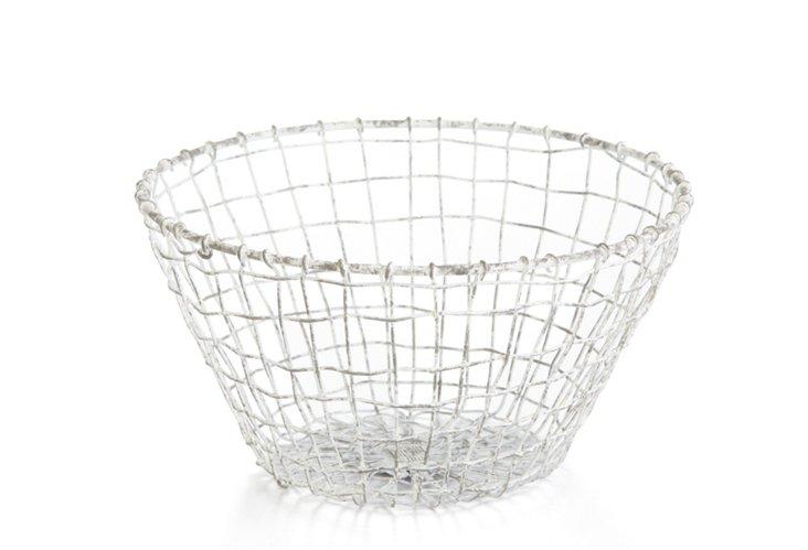 Large Taborah Bowl, Distressed White