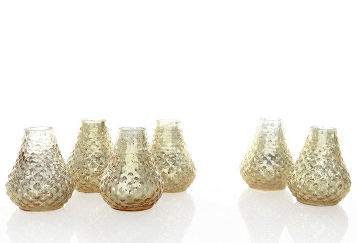 S/6 Antique Gold Bibi Vases