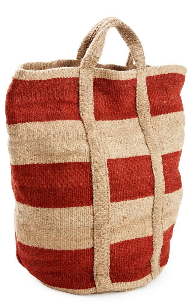 Bansi Jute Bag, Natural/Red