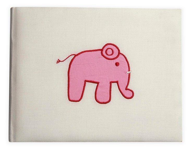 Baby Elephant Photo Album, Pink