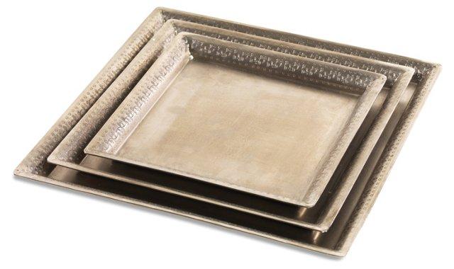Hand-Etched Iron Tray, Medium