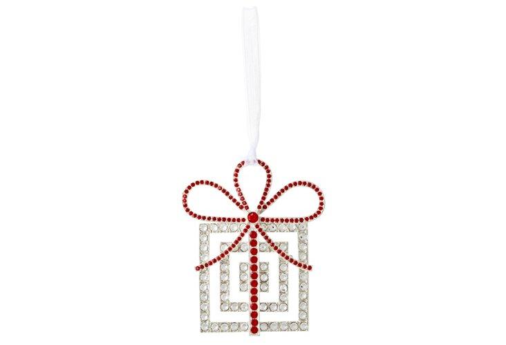 Crystal Present Ornament