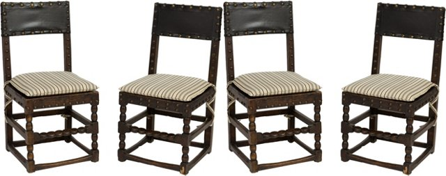 Cromwellian Dining Chairs, Set of 4