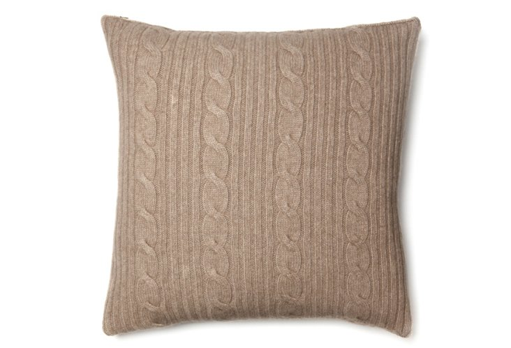 Roma 20x20 Pillow, Taupe