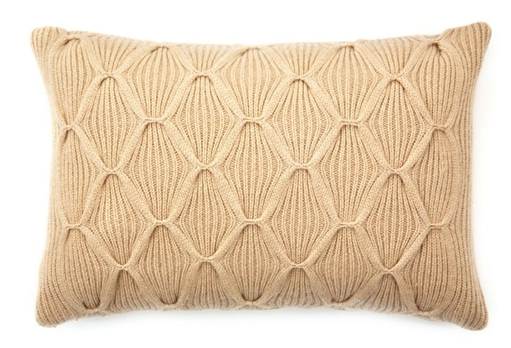 Como Argyle 16x24 Pillow, Camel