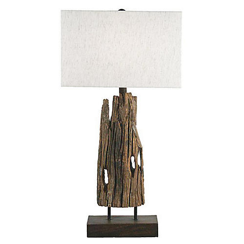 Reclaimed Timber Table Lamp