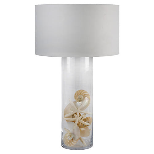 Display Glass Cylinder Lamp
