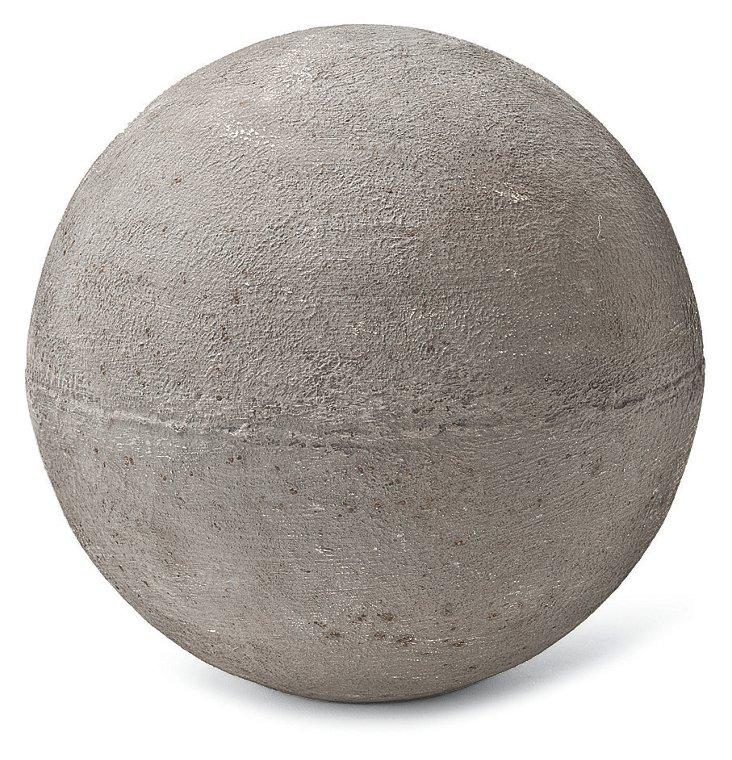"11"" Rusty Zinc Sphere"