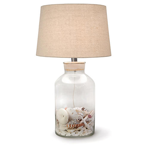 Large Keepsake Table Lamp, Clear