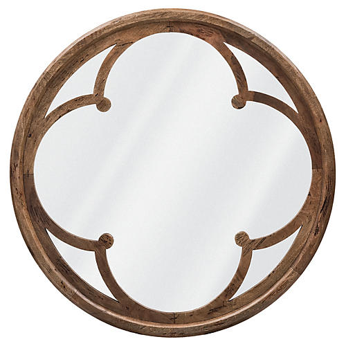 Quatre Oversize Wall Mirror, Natural