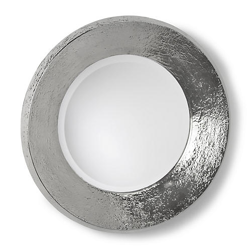 "24"" Concave Mirror, Nickel"