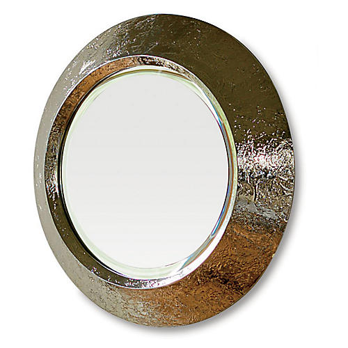 "24"" Convex Mirror, Nickel"
