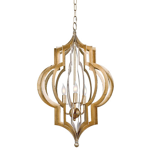 Pattern Makers Pattern Makers Chandelier, Gold