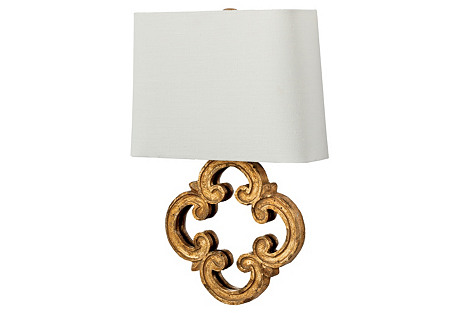 Motif Mirror Sconce, Wood and Mirror