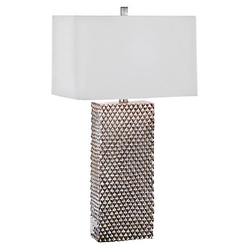 Platinum Column Lamp, Resin