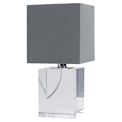 Mini Crystal Block Lamp, Crystal