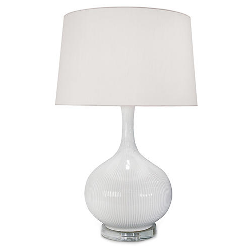 Ceramic Table Lamp, Ivory