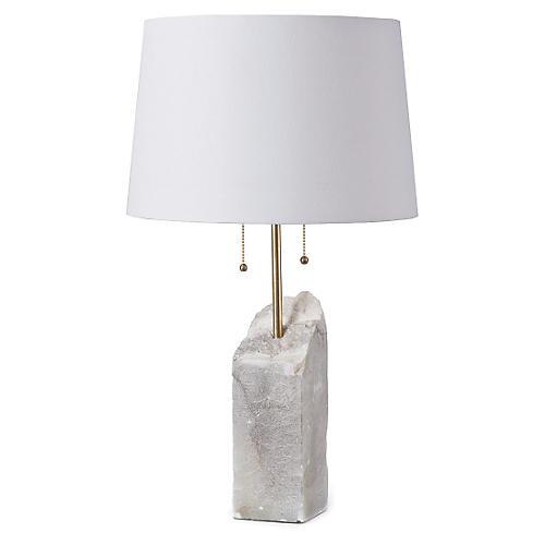 Alabaster Table Lamp, White