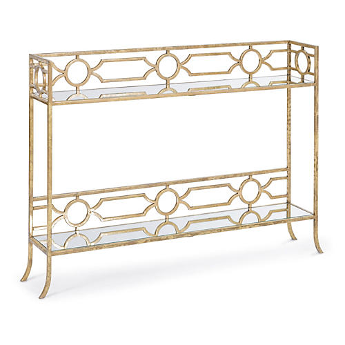 Chantal Mirrored Console Shelf