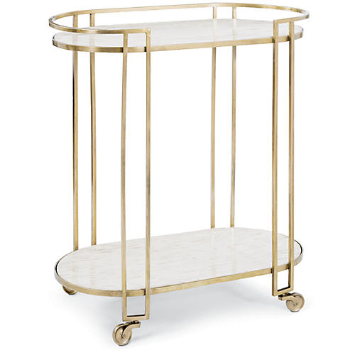 Clemence Bar Cart, Bronze