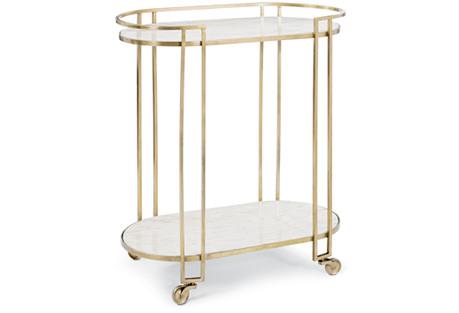 Clemence Bar Cart, Bronze