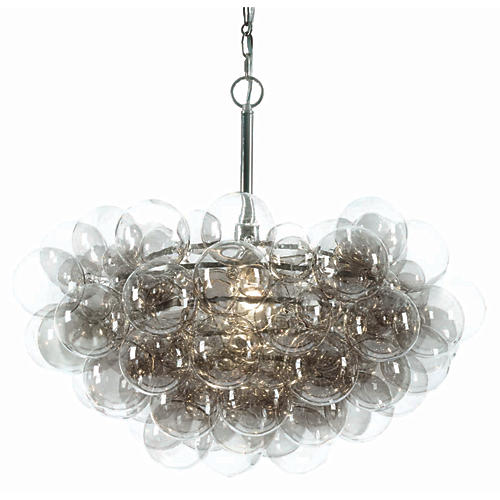 Bubbles Chandelier, Clear