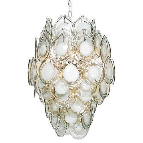 Diva Chandelier, Gray/Clear