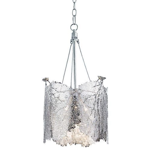 Large Sea Fan Chandelier, Nickel