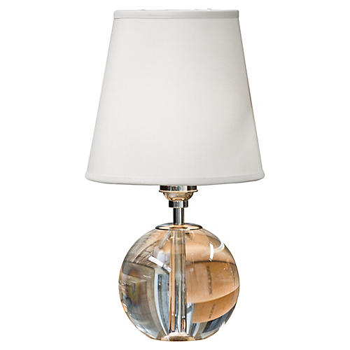 Mini Crystal Orb Table Lamp, Clear