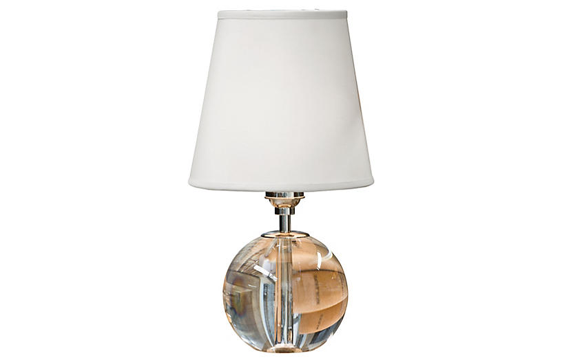 Mini Crystal Orb Table Lamp, Clear