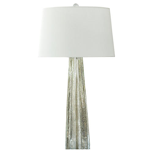 Belle Tall Table Lamp, Antiqued Mercury