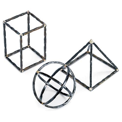 Asst. of 3 Geometric Shapes