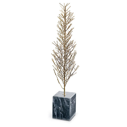 "21"" Wire Tree, Brass"