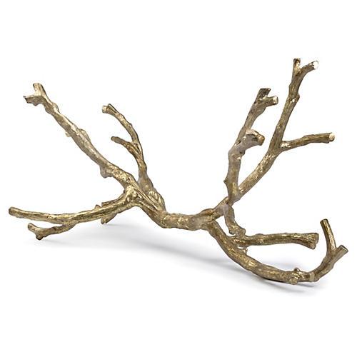 """30"""" Branch Sculpture, Gold"""