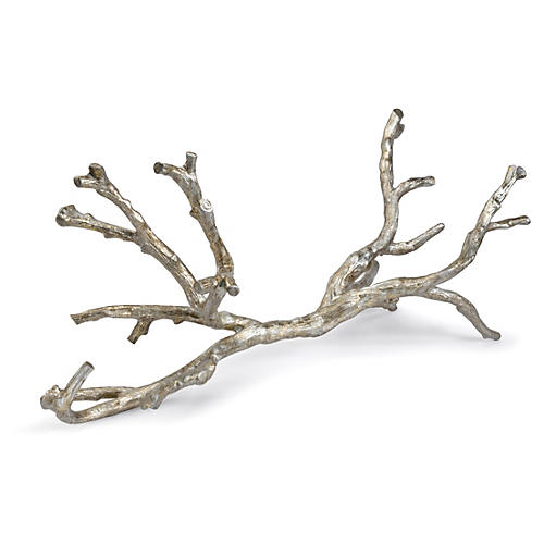 "30"" Branch Sculpture, Silver"