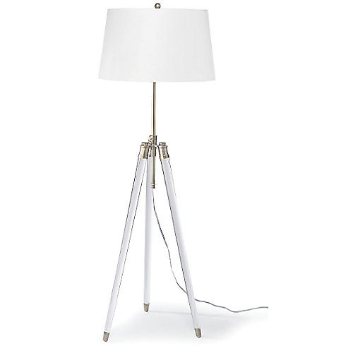 Brigitte Floor Lamp, Brass