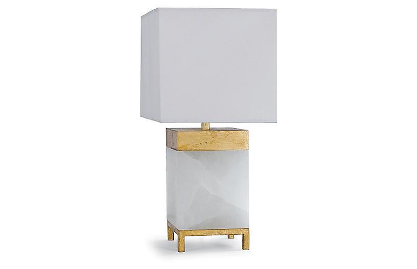 Jillian Table Lamp, Alabaster
