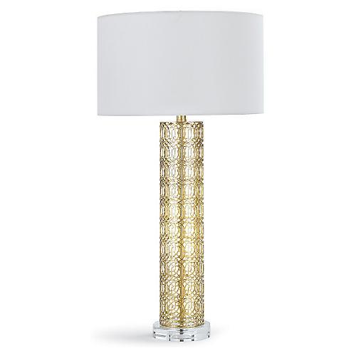 Leopold Table Lamp, Gold Leaf
