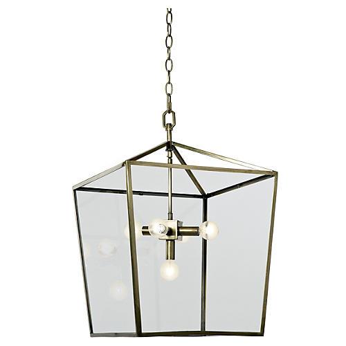 5-Bulb Camden Lantern, Soft Brass